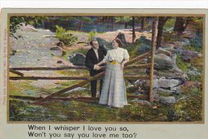 Romantic Couple When I Whisper I Love You So
