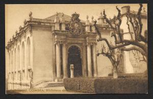 University Library Coimbra Portugal unused c1920's