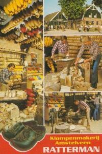 Ratterman Wooden Shoe Clog Clogs Maker Crafts Rare Bovenkerk Holland Postcard