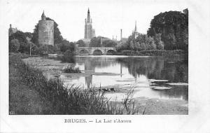 Belgium Bruges - Le Lac d'Amour, bridge, bruecke pont CPA