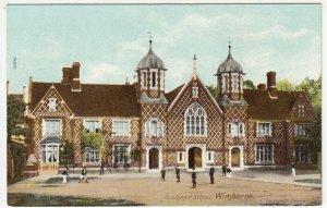 Dorset; Grammar School, Wimborne PPC By Wrench, Unused, c 1910's