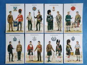 The British Army Scottish Regiments Postcards Set of 8 by Geoff White Ltd 88Z