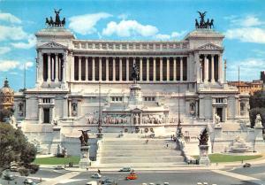 Italy Roma Altare della Patria The Altar of the Nations Auto Cars Statues