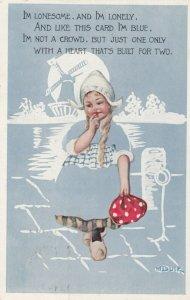 M. Dulk ; Fade-a-way Dutch Girl , 1915