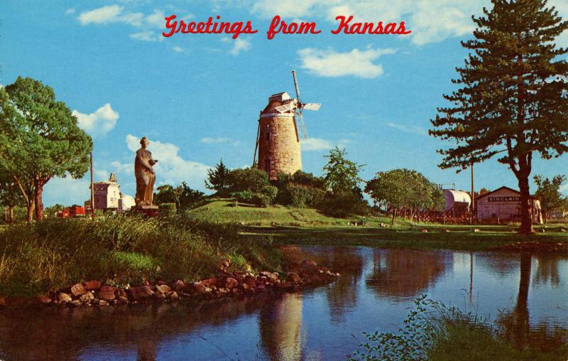KS - Wamego. Old Mill in City Park