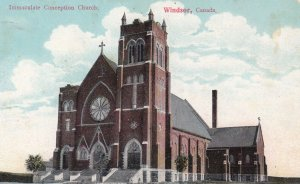 WINDSOR, Ontario, Canada, 1900-1910's; Immaculate Conception Church