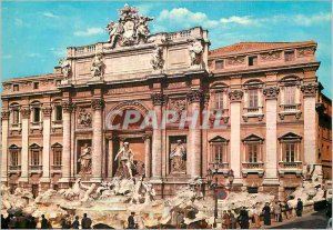 Postcard Modern Rome Trevi Fountain