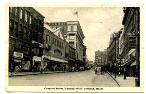 ME - Portland. Congress Street looking West