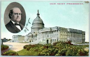 1908 WILLIAM JENNINGS BRYAN Campaign Postcard OUR NEXT PRESIDENT U.S. Capitol