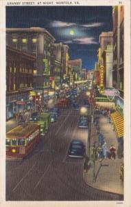 Virginia Nofolk Granby Street At Night