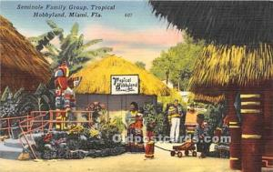 Published by Tichnor Bros Inc. Seminole Indians, Florida USA Postcard Miami