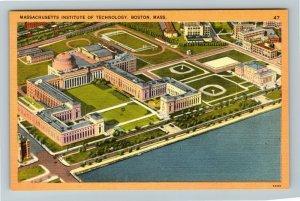 Boston,MA-Massachusetts,Aerial of Massachusetts Institute of Technology,Postcard