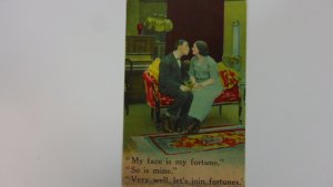 Antique 1910 Posted Postcard Bamforth's Comics