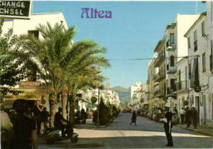spain, ALTEA, Calle del Conde de Altea, Police, Scooter