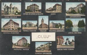 CLUJ-NAPOCA, Romania, 1900-10s; 12-view postcard