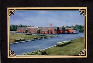 ME Ramada Inn Hotel motel Restaurant Lewiston Maine Postcard