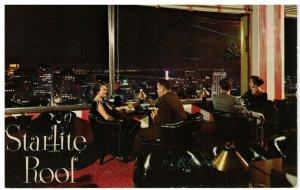 Postcard - Night View San Francisco Starlite Roof Sir Francis Drake Hotel, Cal.