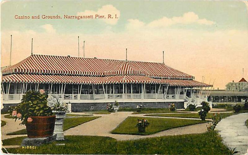 Casino and Grounds Narragansett Pier Rhode Island RI D/B
