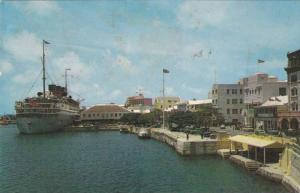 The Waterfront,showing shopping centre and the new Bermudiana Hotel, Hamilton...