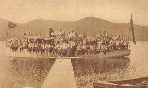 LP43 Camp Wynona Lake Morey  Vermont Vintage Postcard