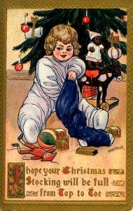 Greeting - Christmas.  Artist: Marion Miller