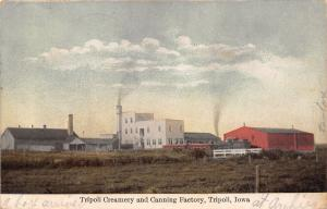 Tripoli Iowa~Creamery & Canning Factory Panorama~Smoke Stacks~Baby Girl~Dec 1909
