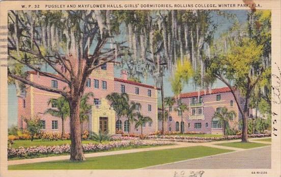 Florida Winter Park Pugsley and Mayflower Halls Girls Dormitories Rollins Col...