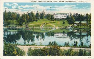 Club House at Brook Haven Country Club - Atlanta GA, Georgia - pm 1931 - WB