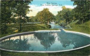 Arkansas Blue Springs C-1910 Eureka Diehl Teich postcard 6914