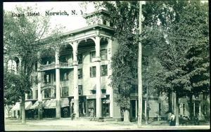 RPPC, Eagle Hotel, Norwich NY