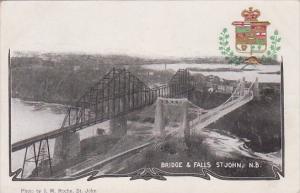Canada St John The Bridge and Falls 1906