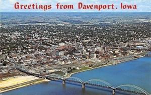Davenport Iowa~Aerial View~Modern Woodman Park~Baseball Stadium~1970s PC