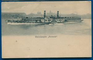 Rheindampfer Borussia Germany steamer old German postcard