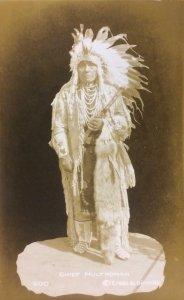 RPPC CHIEF MULTNOMAH Native American Indian ca 1930s Vintage Antique Postcard