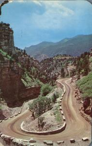Horseshoe Curve in Williams Canon near Manitou Springs CO, Colorado - pm 1962