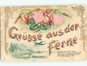 Divided-Back BEAUTIFUL FLOWERS SCENE Great Postcard AA2951