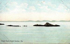 Maine Pulpit Harbor Showing Pulpit Rock