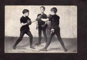 William Bryan Jennings Taylor Boxing President Presidential Political Postcard
