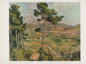 Cezanne Landscape With A Viaduct Metropolitan Museum Of Art Painting Postcard