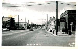 WA - Cle Elum. Main Street      *RPPC