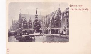 Gruss aus Braunschweig (Lower Saxony), Germany, 1890s