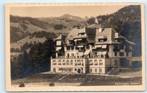Park Hotel Gstaad Switzerland Swiss Old Vintage Postcard D01
