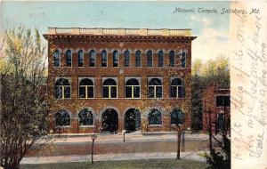 E30/ Salisbury Maryland Md Postcard 1907 Masonic Temple Building
