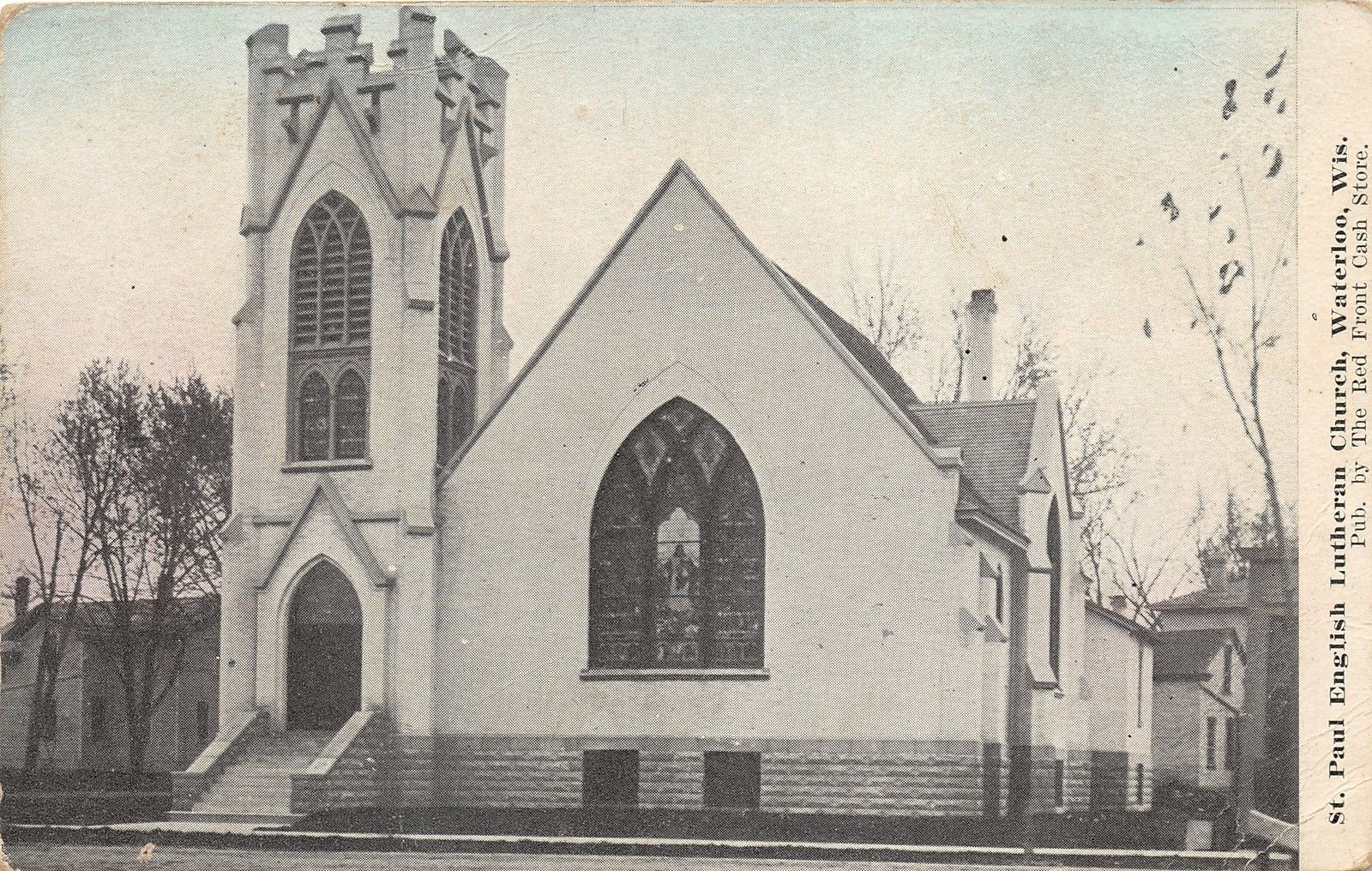 Waterloo Wisconsin~St Paul English Lutheran Church~Stained