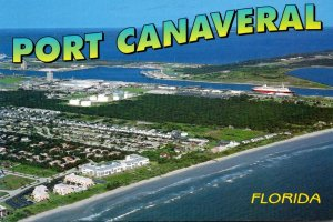 Florida Port Canaveral Aerial View