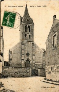 CPA Env. de MEULAN - SAILLY - Église (1855) (247008)
