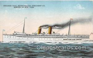 Steamer Yale Metropolitan Steamship Co, Boston, New York Ship Postcard Post C...