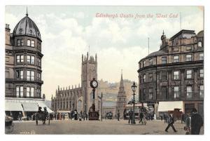 UK Scotland Edinburgh Castle from the West End Postcard