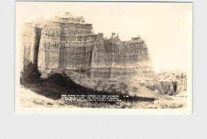 RPPC REAL PHOTO POSTCARD SOUTH DAKOTA BIG BAD LANDS ALTER IN THE CASTLES OF THE