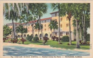 Florida Rockledge The Indian River Hotel Curteich sk301